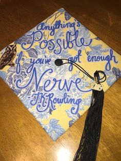 Harry Potter graduation cap! Love quotes from J. K. Rowling