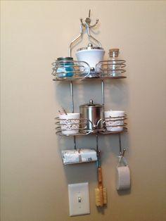 Shower caddy organization for apartment bathroom
