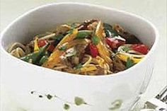 Beef & Noodles with Fresh Vegetables