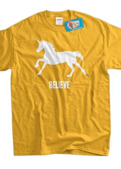 Unicorn T-Shirt Unicorns Magic Funny Unicorn Believe T-Shirt Screen Printed T-Shirt Tee Shirt T Shirt Mens Ladies Womens Youth Kids on Etsy, $14.99