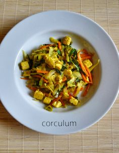 great recipe! www.corculum.blogspot.cz Tofu, Kung Pao Chicken, Ratatouille, Great Recipes, Fit, Ethnic Recipes, Petra, Fine Dining