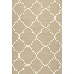 Geometric Pattern Beige/ White Polypropylene Area Rug (7'6x9'6) - Overstock™ Shopping - Great Deals on 7x9 - 10x14 Rugs