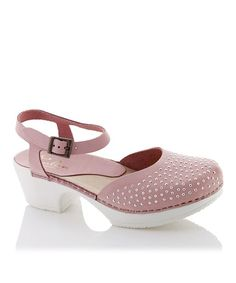 Loving this Pink Studded Ulla Leather Clog Sandal on #zulily! #zulilyfinds