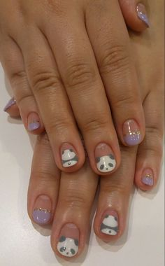Image via Panda nail art designs Image via How to Create Cute Panda Nail Art Image via Panda nails! Image via Nail Art Water Decals Transfers Sticker Lovely Panda Bamboo Panda Nail Art, Animal Nail Art, Panda Nails, Love Nails, Pretty Nails, My Nails, Nail Art Designs, Animal Nail Designs, Photo Food