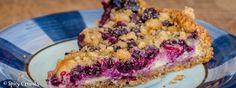 borůvkový koláč s ricottou