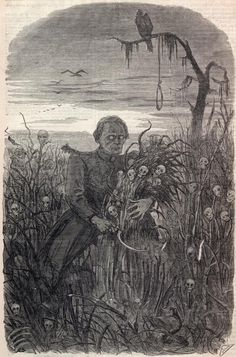 Jefferson Davis depicted as the Grim Reaper in Harper's weekly magazine, October 26, 1861