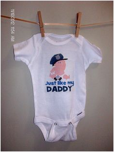 Just like my Daddy Police Officer Baby Cop by DottieandtheBean, $15.00