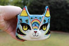 Rainbow Cat Pot