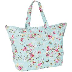 Pip Studio Chinese Blossom Beach Bag - Blue ($42) ❤ liked on Polyvore featuring bags, handbags, blue, flower print purse, flower purse, floral handbags, flower handbags and blue purse