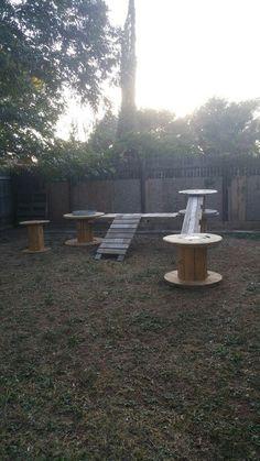 Cool 32 Fascinating Diy Dog Playground Design Ideas To Have In The Backyard Puppy Playground, Playground Design, Goat Toys, Dog Backyard, Dog Enrichment, Dog Kennel Designs, Dog Garden, Dog Activities, Dog Daycare