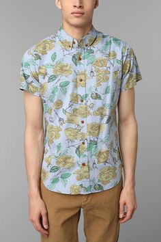 OBEY Wasted Floral Button-Down Shirt #urbanoutfitters