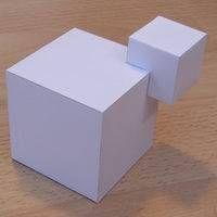 Paper model cubic shape 2