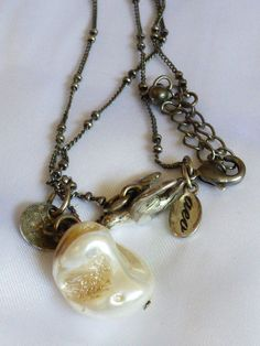 Antiqued Silver tone MOP bead Bird Charm pendant Necklace AEO Fashion necklace | eBay