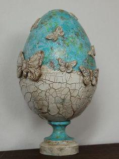 Emu Egg, Easter Egg Pattern, Easter Egg Designs, Ukrainian Easter Eggs, Easter Egg Crafts, Egg Art, Egg Decorating, Vintage Easter, Mix Media