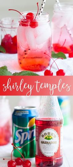 Shirley Temple Recipe kid friendly drink recipes easy drink recipes summer drink recipes Oh So Delicioso 821695894487432612 Easy Mixed Drinks, Mixed Drinks Alcohol, Party Drinks Alcohol, Kid Drinks, Alcoholic Drinks, Beverages, Shirley Temple Drink Alcoholic, Yummy Drinks, Summer Drink Recipes