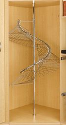 Clothes rack for small spaces - this is so unbelievably clever! I need a spiral rail it makes so much more sense!