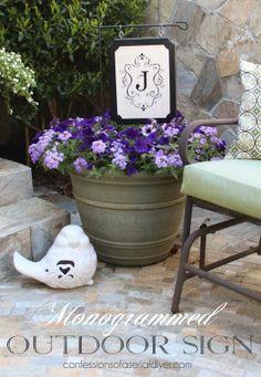 DIY Monogram Outdoor Sign Tutorial