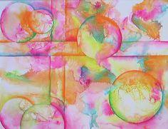 Watercolor Circle Abstracts