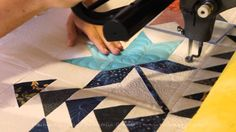 Machine Quilting Coastal Lily quilt block by Natalia Bonner off Piece N Quilt Longarm Quilting, Free Motion Quilting, Quilting Tips, Quilting Tutorials, Quilting Projects, Hexagon Quilt, Square Quilt, Cross Hatching, Machine Quilting Designs
