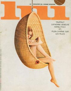 hanging egg chair /////////Lui, June 1966