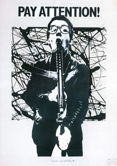 Elvis Costello - Armed Forces Promo Poster from Barney Bubbles