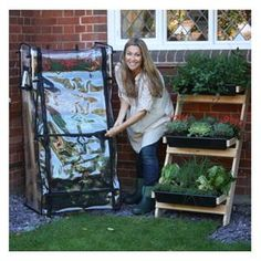 This Ladder Vegetable Garden & PVC Cover is perfect if you have limited outdoor space Vegetable Garden Planters, Wooden Garden Planters, Miniature Greenhouse, Autumn Garden, Fresh Herbs, Ladder, Vegetables, Outdoor, Space
