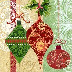 Victorian Ornaments Merry by Jennifer Brinley | Ruth Levison Design