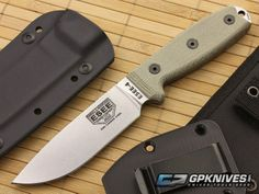 ESEE 4 Uncoated 1095 Plain Edge with MOLLE Back