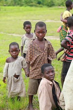 Bright Vision Feeding program, Malawi, Africa. Older siblings were constantly taking care of their younger ones.