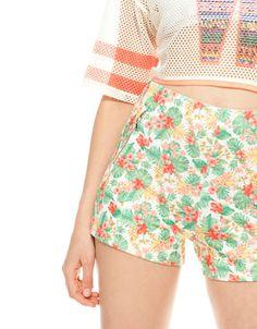 Bershka Ukraine - BSK floral print shorts