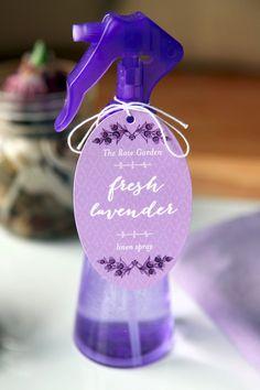 Lavender Linen Water #diy #homemade #home #laundry #fresh #gift