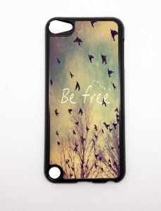 Amazon.com: Apple iPod Touch iTouch 5G 5 5th Gen Generation Be Free Birds Vintage Retro Design BLACK SIDES Slim HARD Case Skin Cover Protector Mobile MP3 Player Accessory Vintage Retro Unique Case Cartel: MP3 Players & Accessories