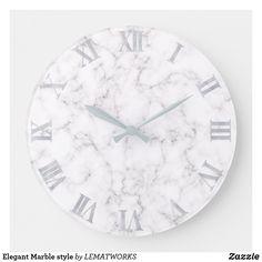 Elegant Marble style Large Clock