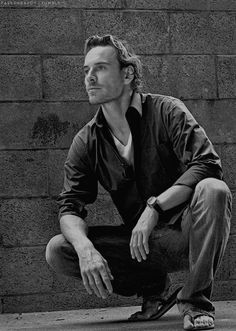 Michael Fassbender photographed by Richard Knapp in 2009