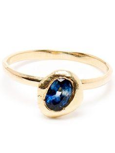 1914 natasha collis 18k gold stacking ring with sapphire