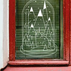 Christmas Window Decorations, New Years Decorations, Chalkboard Window, Chalkboard Ideas, Winter Christmas, Christmas Time, Window Markers, Chalk Drawings, Chalk Markers