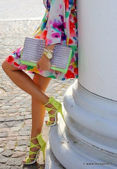 <3 neon lemon shoes Clothes Casual Outift for • teens • movies • girls • women •. summer • fall • spring • winter • outfit ideas • dates • school • parties mint cute sexy ethnic skir