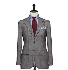 Tailored 2-Piece Suit – Fabric 4541 Check Grey Cloth weight: 280g Composition: 100% Wool Super 120's