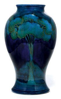 Moorcroft Moonlit Blue Vase / circa 1925 / pottery, tubleined and glazed