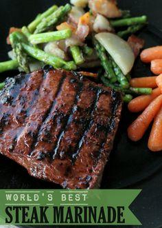 World's BEST Steak Marinade EVER!!! { lilluna.com } #steak #marinade