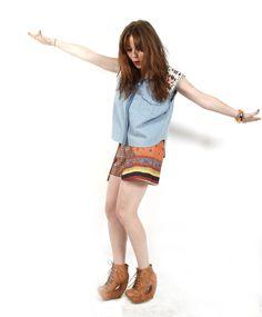 Angela Scanlon, presenter, stylist and fashion writer is choosing her favourite looks for Live on Oxygen all this week, today she's wearing a fun outfit which would fit in at any Summer event!  Angela's wearing Torn by Ronny Kobo, Clover Canyon and Jeffrey Campbell!