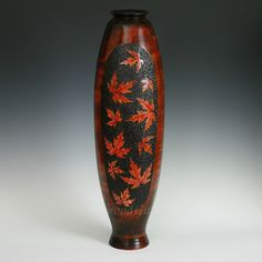 """Maple-on-Maple"" Hollow Vesselhttp://www.myrtlewoodgallery.com/maple-on-maple-woodturned-and-embellished-vessel"