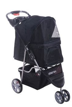 Merax Pet Stroller Dog Cat Folding Travel Carrier Three Wheels *** Trust me, this is great! Click the image. : Dog strollers