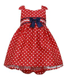 Another great find on #zulily! Red Polka Dot Ruffle Dress - Infant & Toddler #zulilyfinds