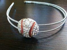 Blinged Baseball headband the ultimate by StitchThisCustom on Etsy, $15.00