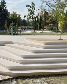 enota promenada velenje city center pedestrian zone slovenia designboom