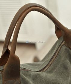 Large Capacity Shoulder Bag Leather Canvas Bag (12)