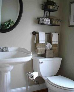 Small bathroom space saving. Ideas for above the toilet.