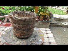 Blumentopf / Pflanzkübel selber machen . - YouTube