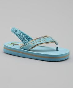 Look what I found on #zulily! Teal Slingback Flip-Flop #zulilyfinds
